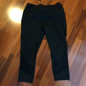 Athleta perforated and mesh running tights